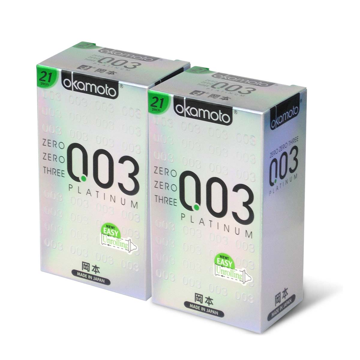 Okamoto 0.03 Platinum 21s Twin Pack Set 42 pieces condom
