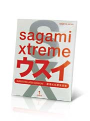 Sagami Xtreme Superthin 1's Pack Latex Condom