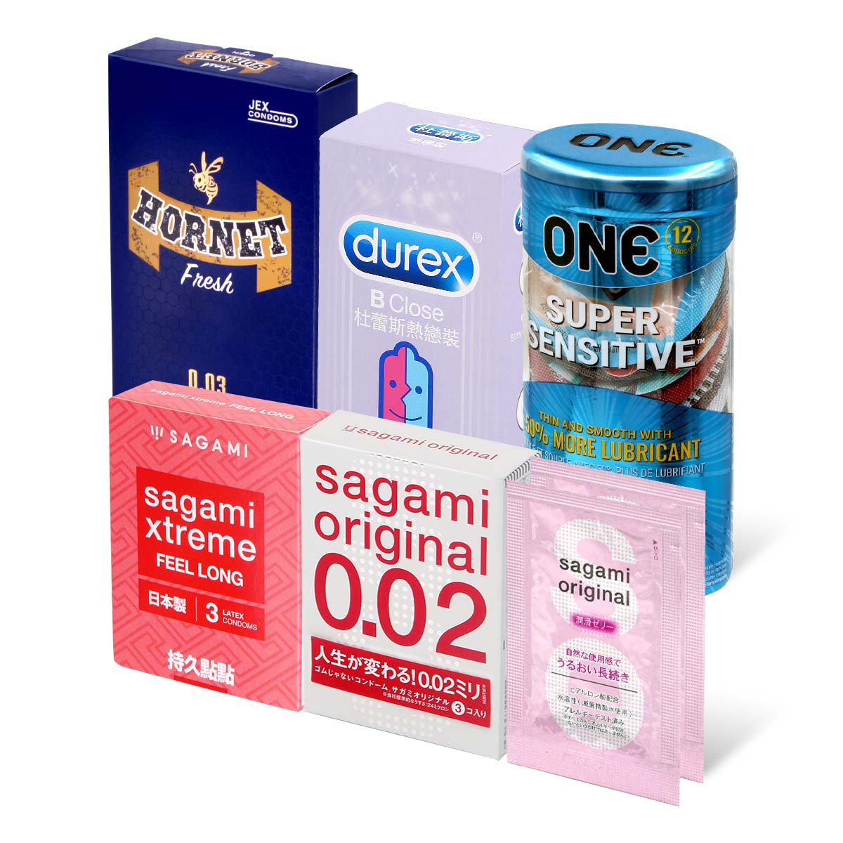 Sampson Recommended Value Type Combo Set 38 pieces condom