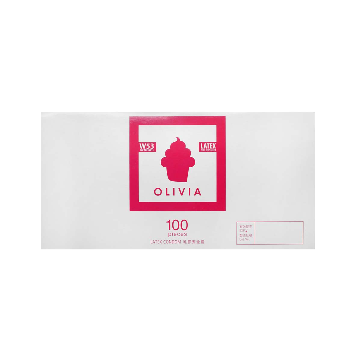 Olivia W53 max-lubricated 100 pieces bulk pack Latex Condom