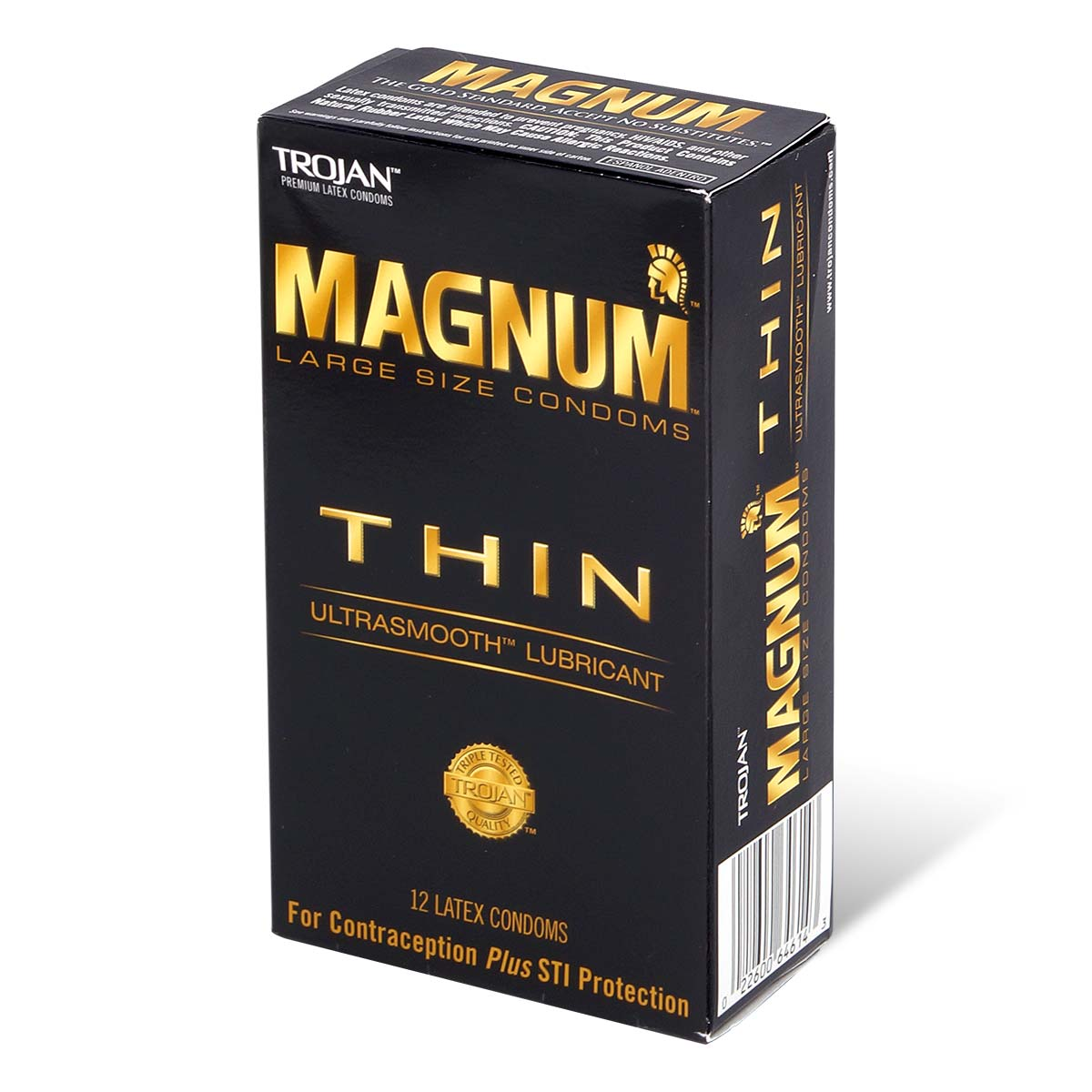Trojan Magnum Thin 62/55mm 12's Pack Latex Condom
