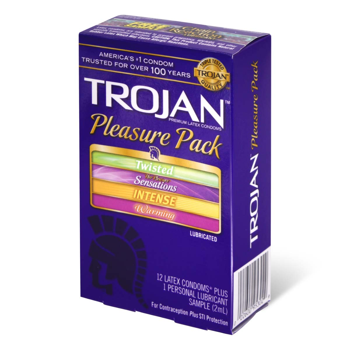 Trojan Pleasure Pack 12's Pack Latex Condom