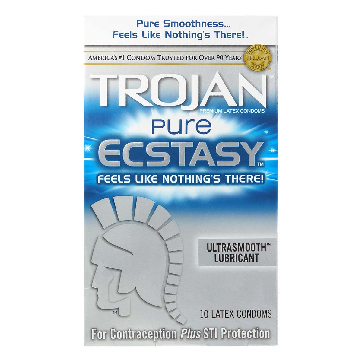 Trojan Pure Ecstasy 70/51mm 10's Pack Latex Condom