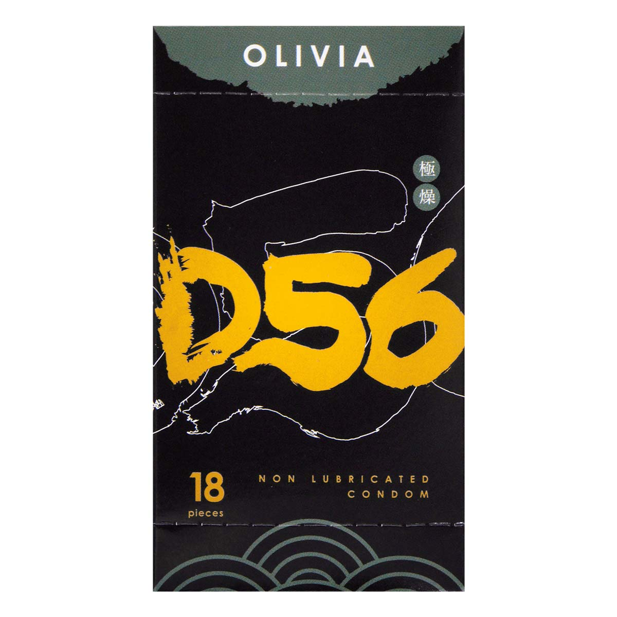 Olivia The East Dry non-lubricated 56mm 18's Pack Latex Condom