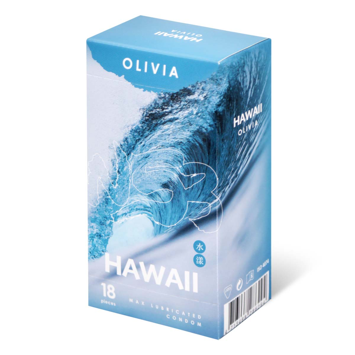Olivia Hawaii Aqua 18's Pack Latex Condom