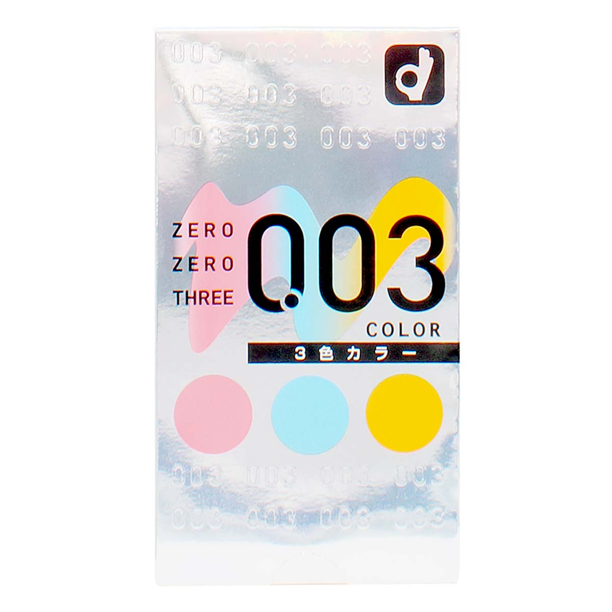 Zero Zero Three 0.03 3-colors (Japan Edition) 12's Pack Latex Condom