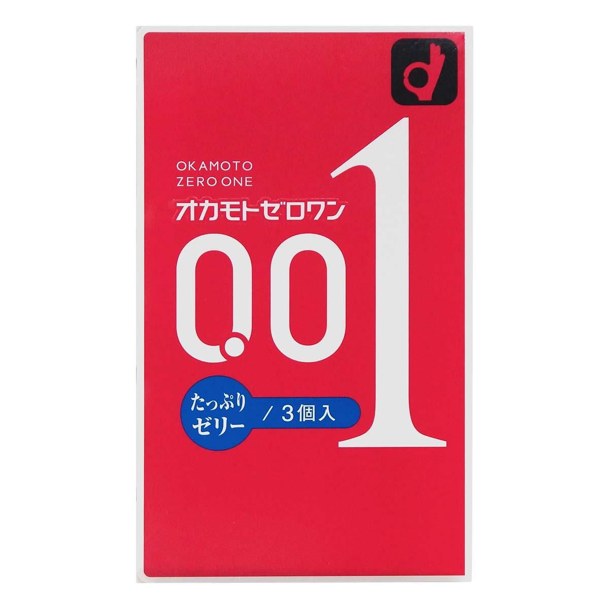 Okamoto 0.01 Plenty of Jelly 3's Pack PU Condom