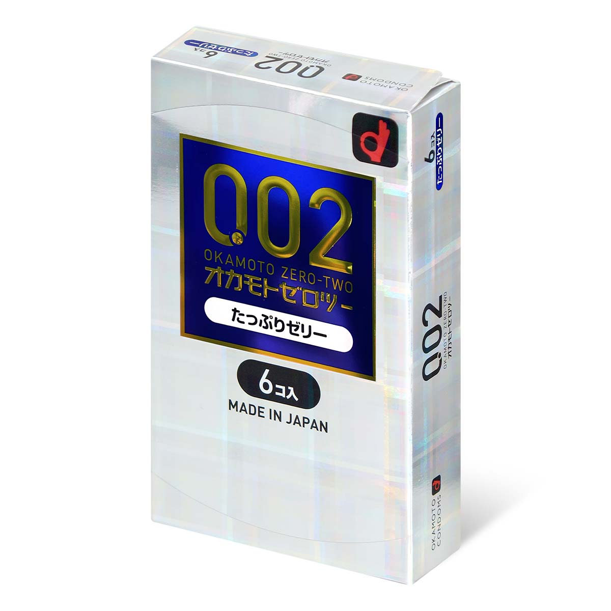 Okamoto Unified Thinness 0.02EX Plenty of Jelly (Japan Edition) 6's Pack PU Condom