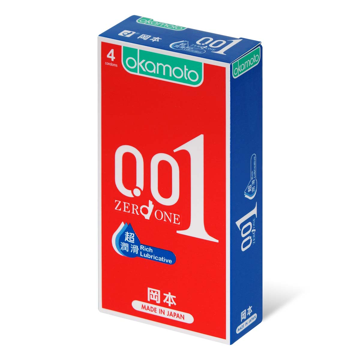 Okamoto 0.01 Rich Lubricative 4's Pack PU Condom