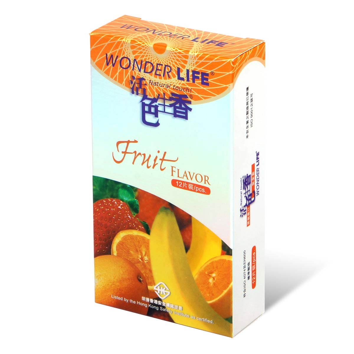 Wonder Life Fruit Flavor 12's Pack Latex Condom