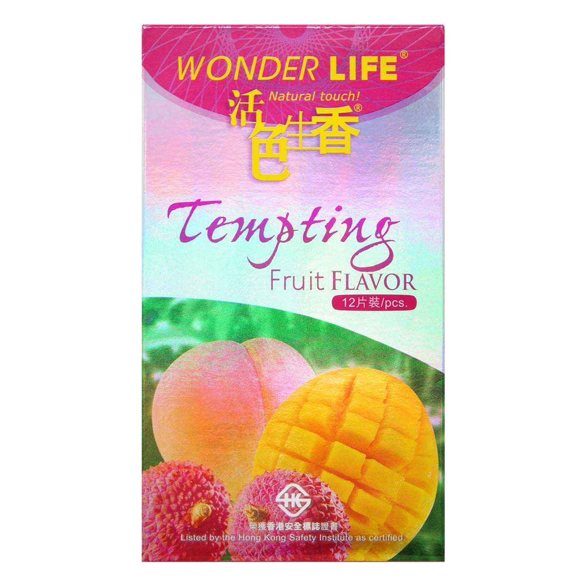 Wonder Life Tempting Fruit Flavor 12's Pack Latex Condom