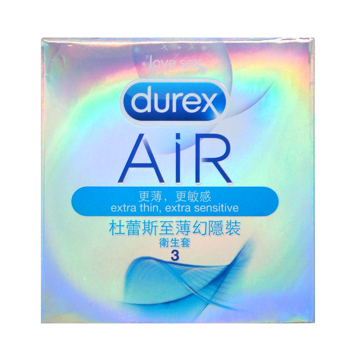 Durex Air 3's pack Latex Condom