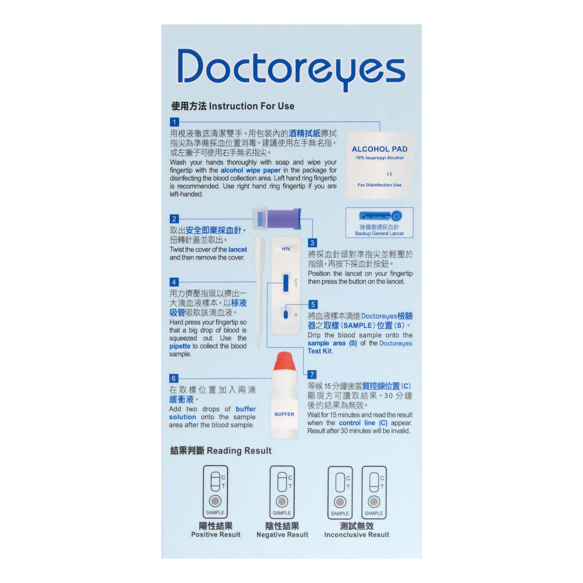 Doctoreyes HIV rapid test kit