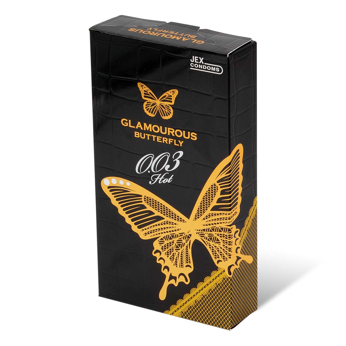 Glamourous Butterfly 0.03 Hot Type 10's Pack Latex Condom