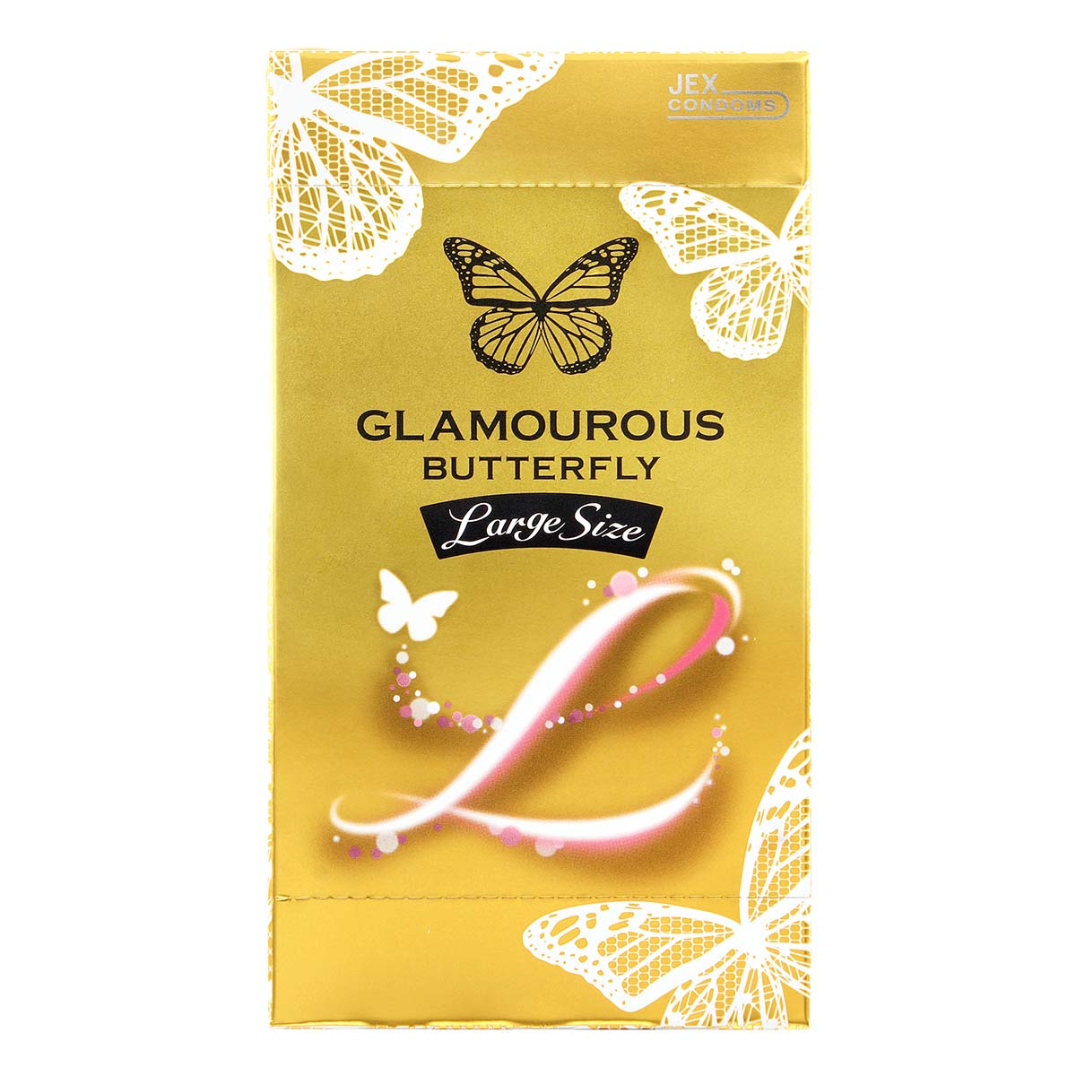 Glamourous Butterfly Large Size 55mm 6's Pack Latex Condom