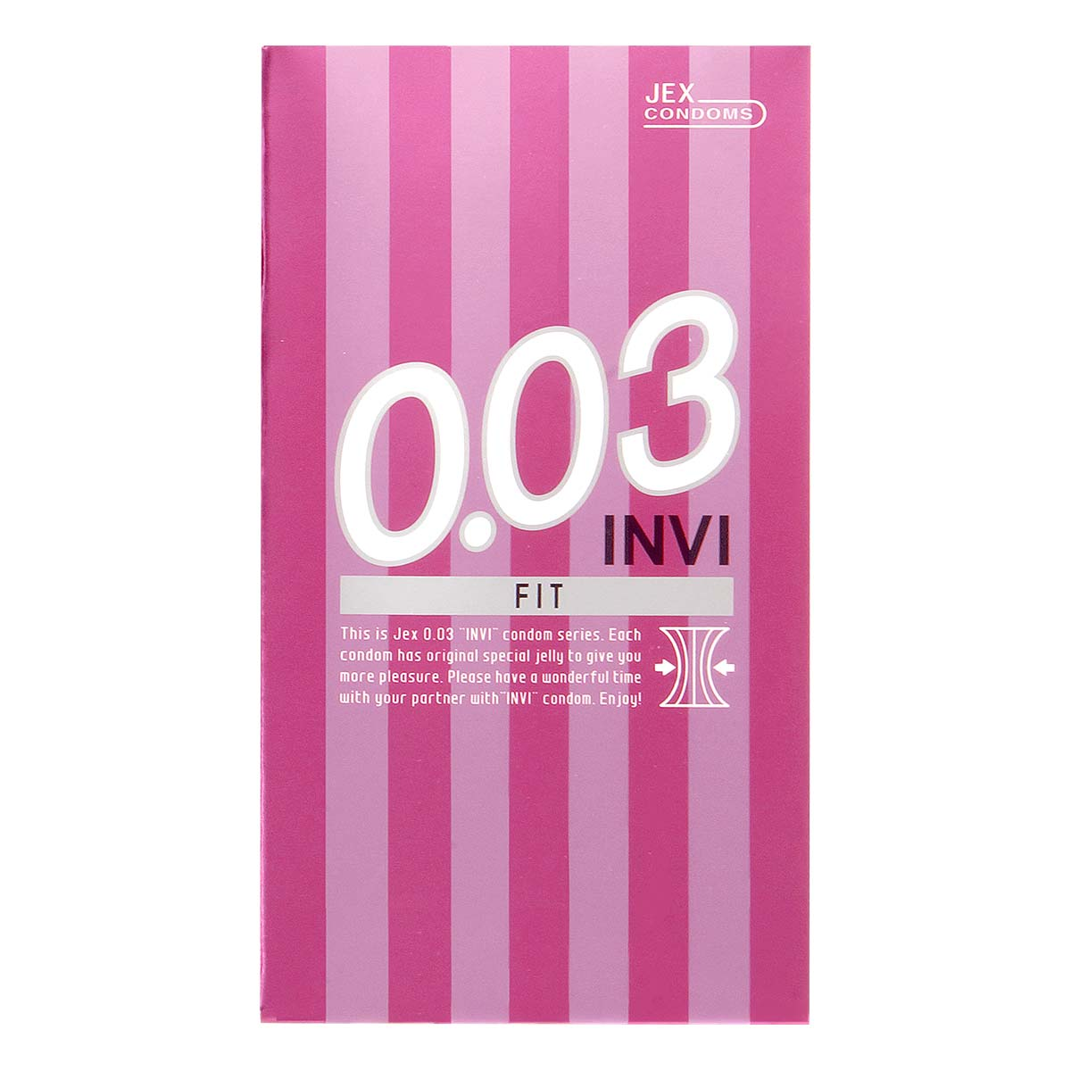 INVI 0.03 Fit 8's Pack Latex Condom