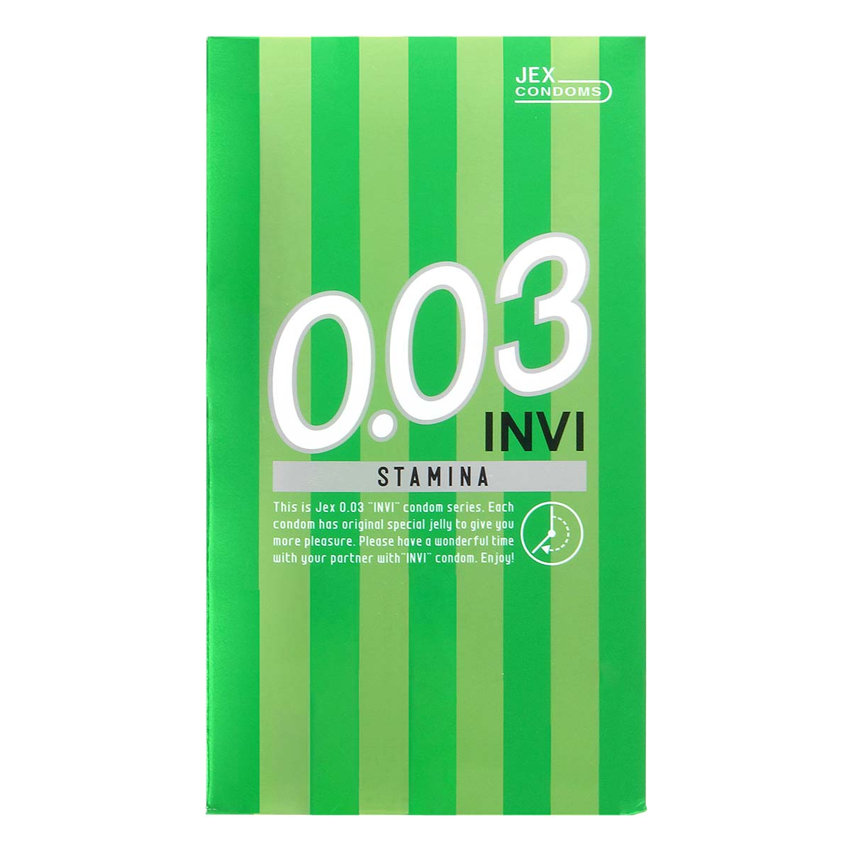 INVI 0.03 Stamina 8's Pack Latex Condom