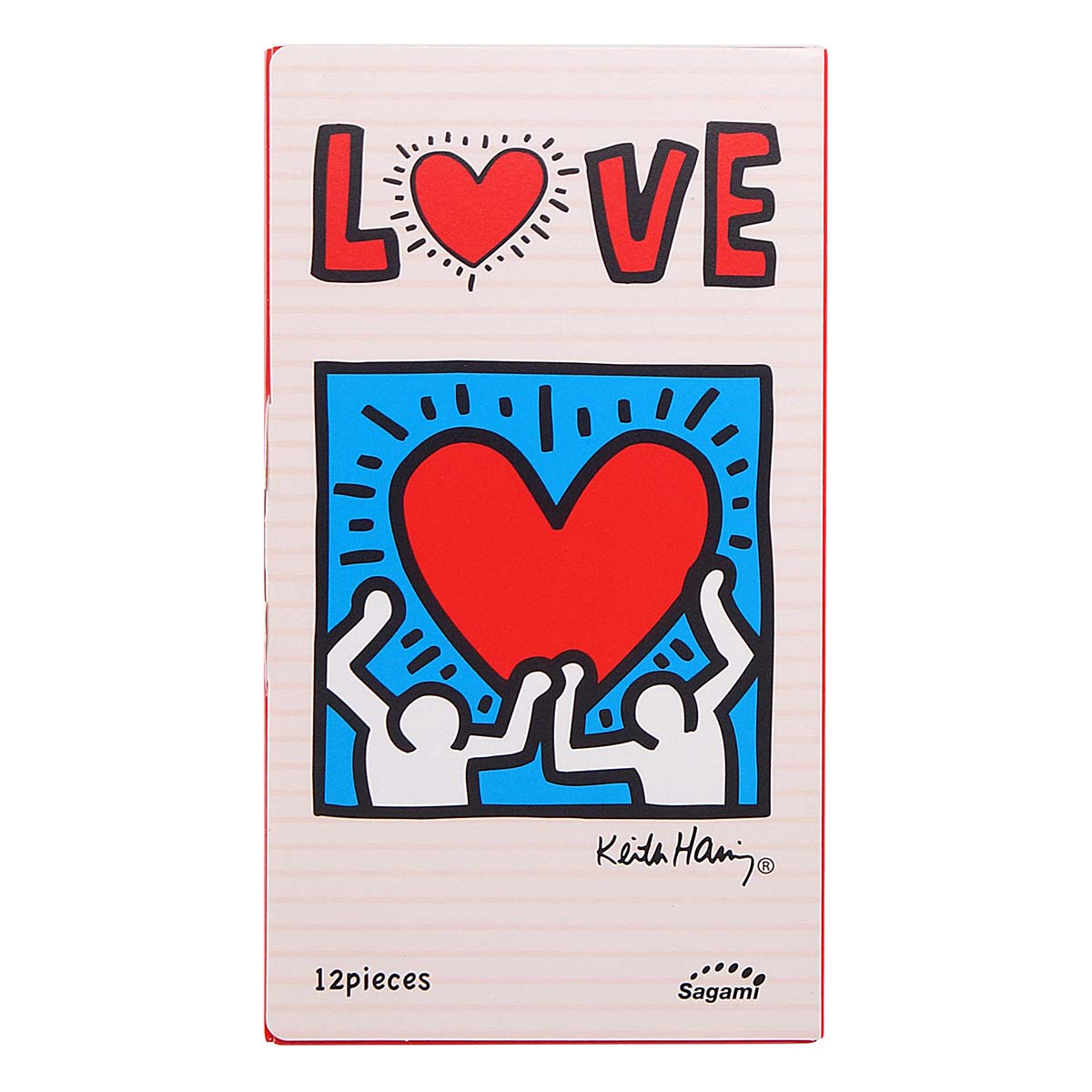 Sagami LOVE Keith Haring 12's Pack Latex Condom