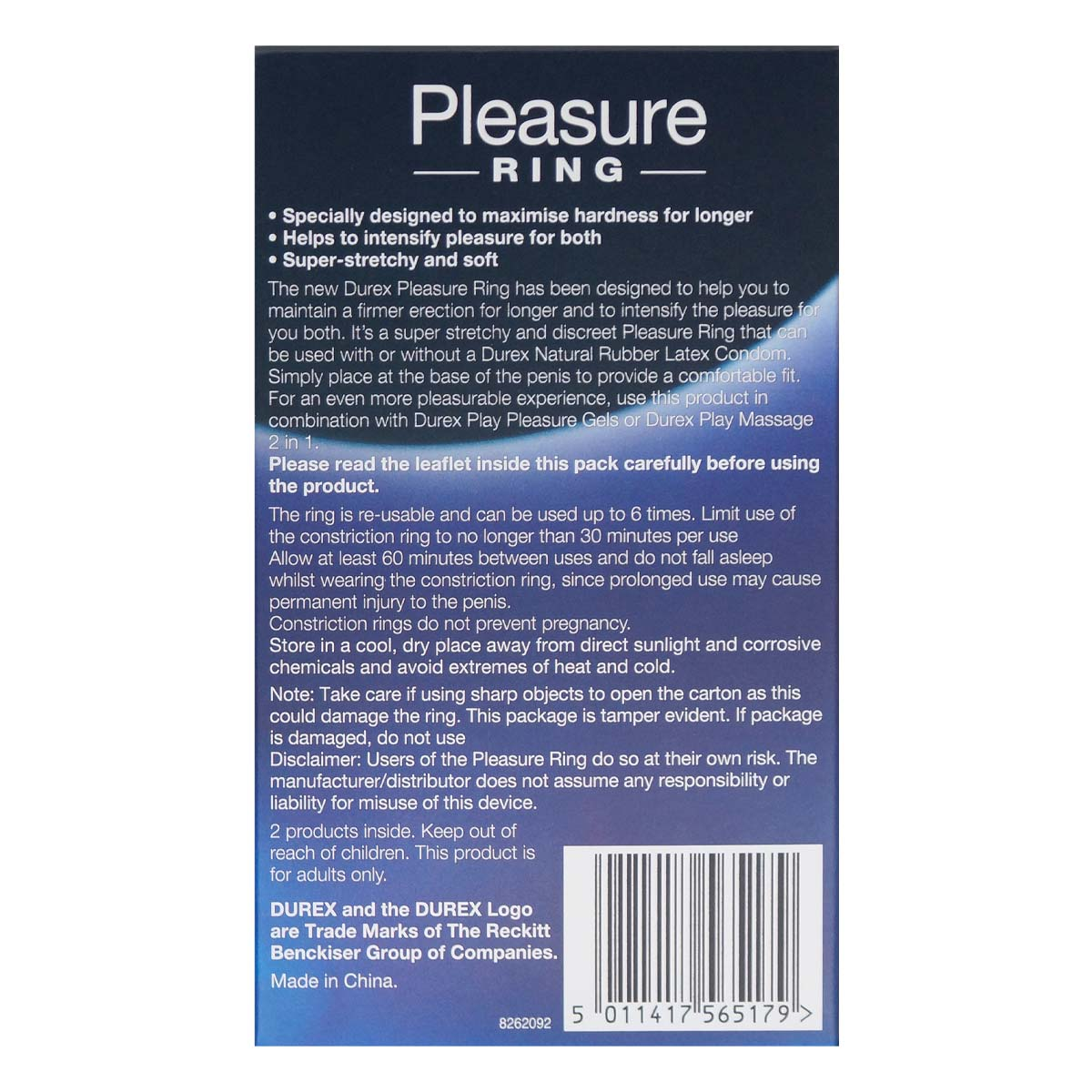 Durex Pleasure Ring 2 pcs pack