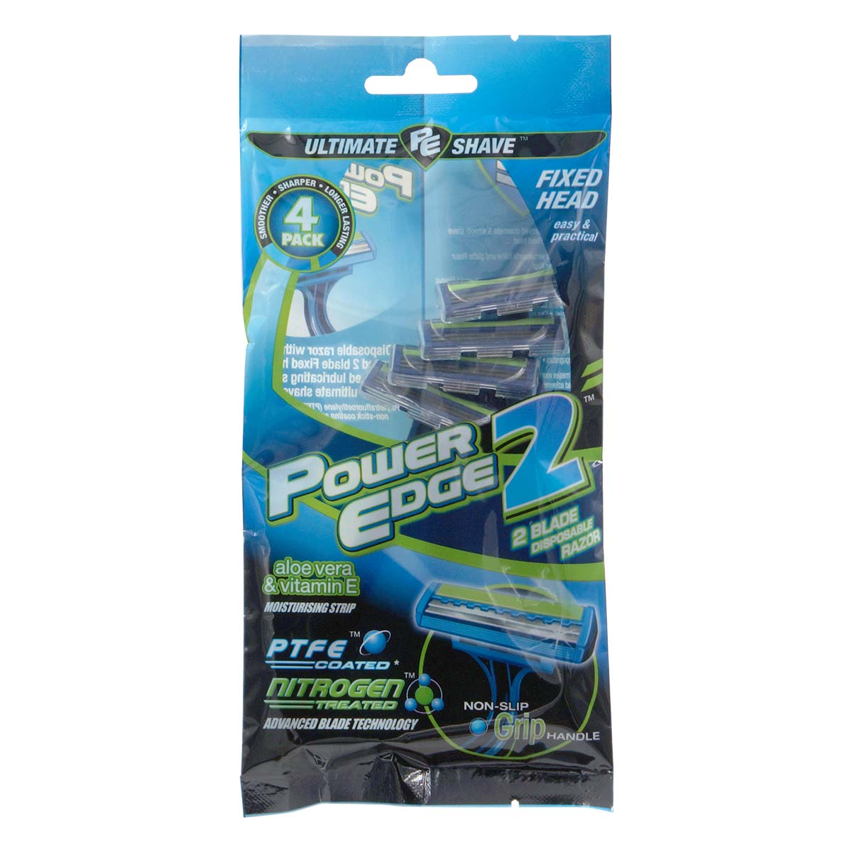 Power Edge 2 Blade Disposable Razor 4's pack