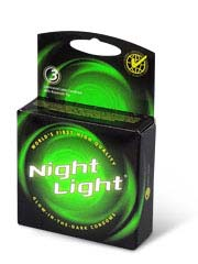 Night Light Glow in the Dark 3's Pack Latex Condom