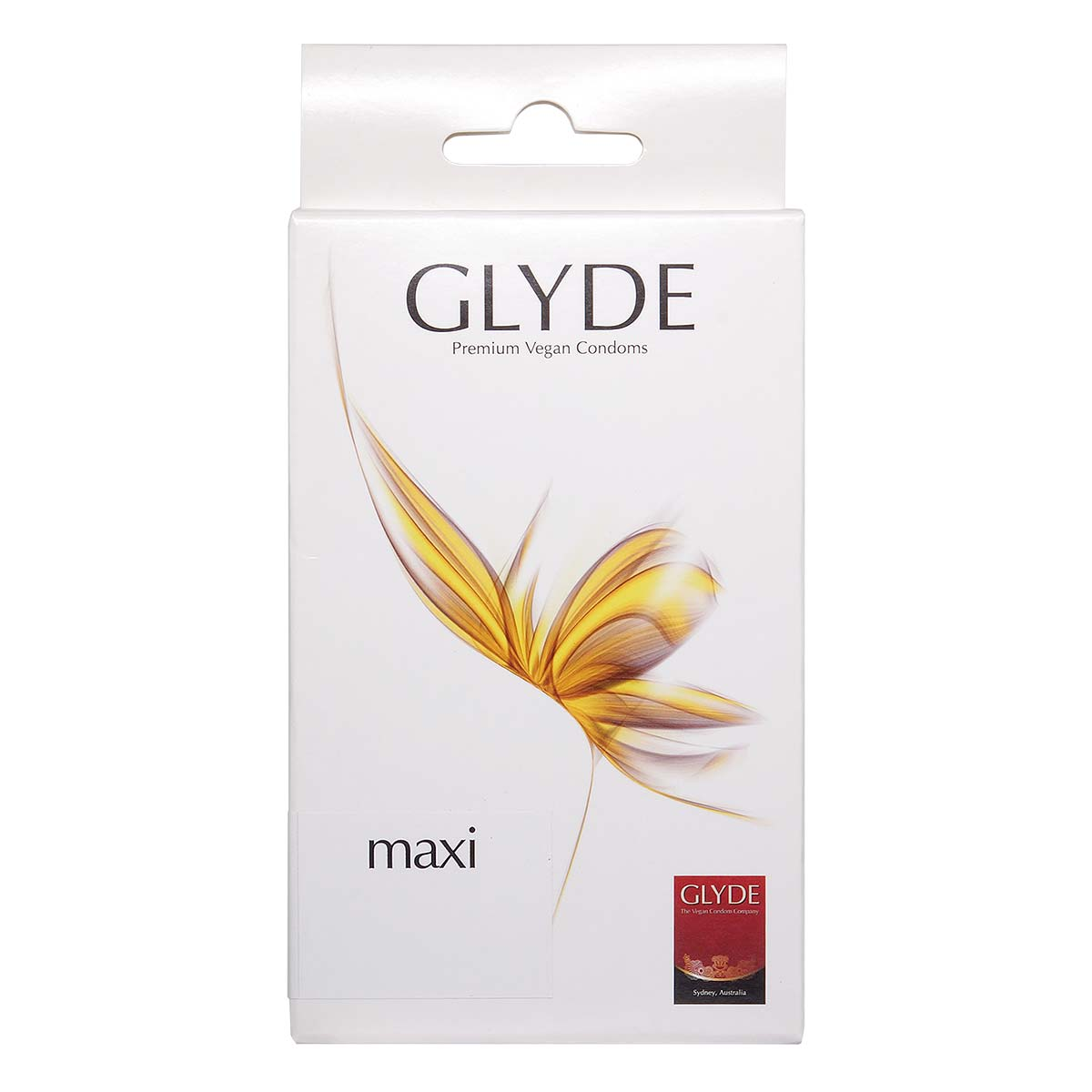 Glyde Vegan Condom Maxi 56mm 10's Pack Latex Condom